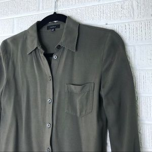 Aritzia Tops - Aritzia Talula Olive Green Button Down Top XXS